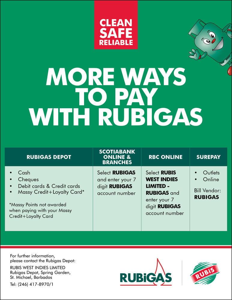 RUBIGAS Barbados info