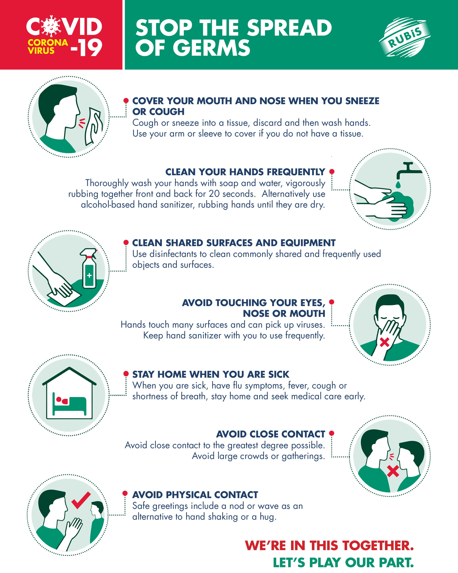 Tips to stop the spread of germs