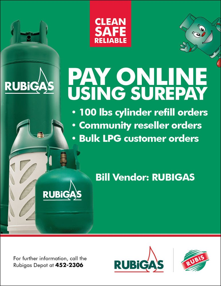St Lucia - Pay for Rubigas Online