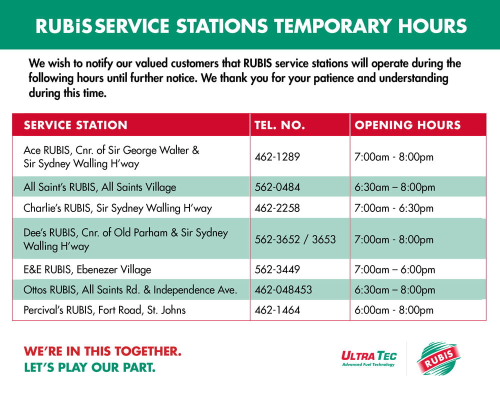 Antigua Covid-19 opening hours
